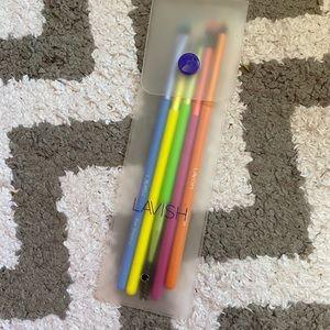 Lavish 5 pc makeup brush set NWT